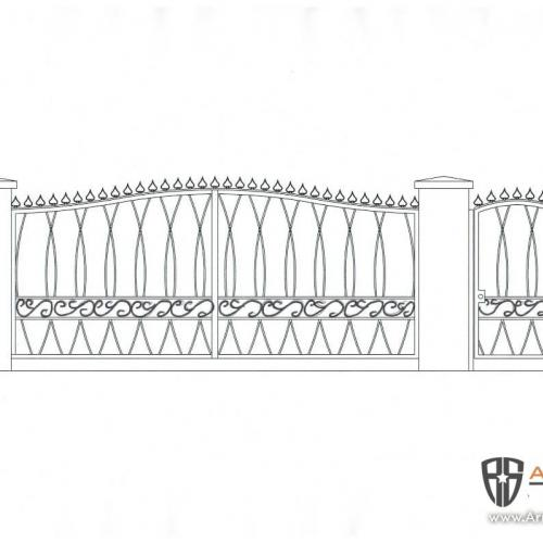 Final approved design of both cantilever and man gate